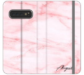 Personalised Cotton Candy Marble Name Samsung Galaxy S10 Plus Case