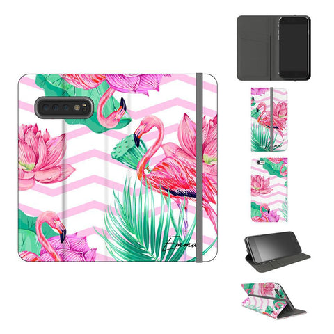 Personalised Flamingo Name Samsung Galaxy S10 Plus Case