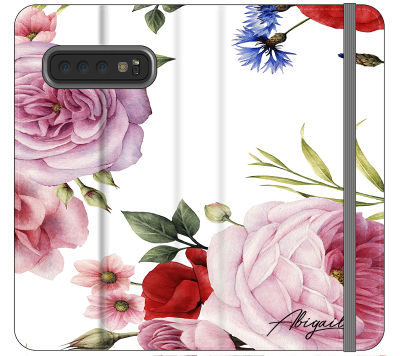 Personalised Floral Blossom Initials Samsung Galaxy S10 Case