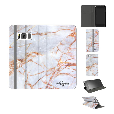 Personalised Fragment Marble Name Samsung Galaxy S8 Case