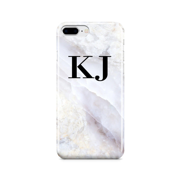 Personalised Stone Marble Initials iPhone 8 Plus Case
