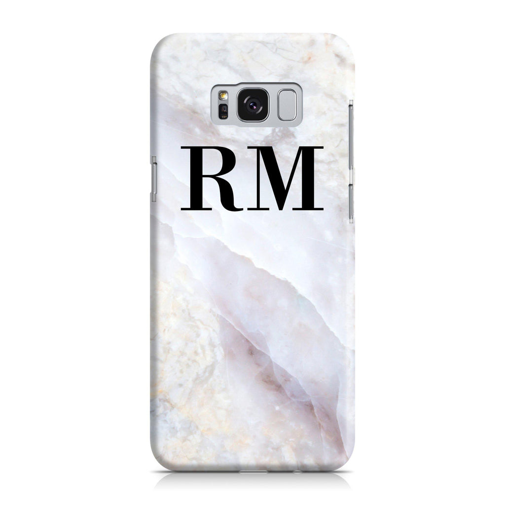Personalised Stone Marble Initials Samsung Galaxy S8 Case