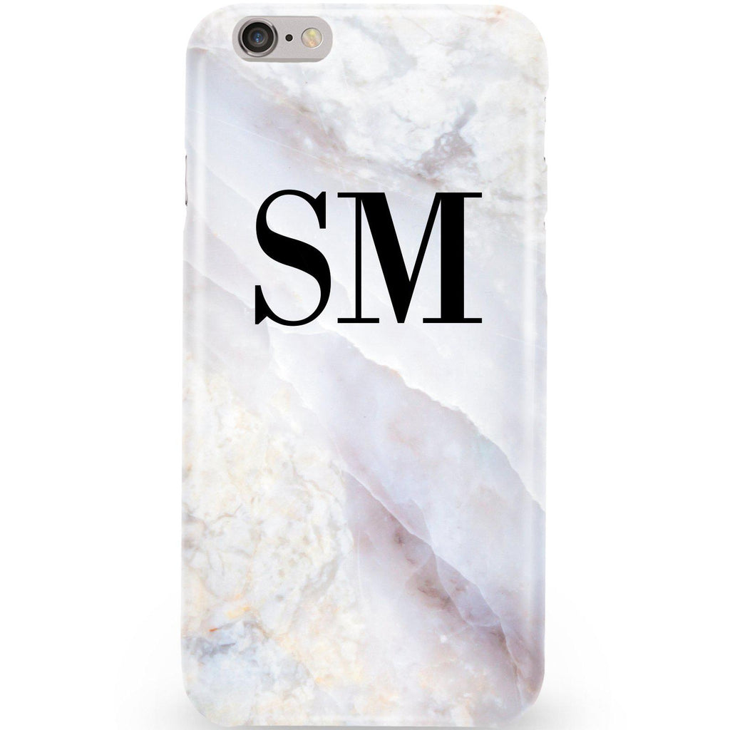 Personalised Stone Marble Initials iPhone 6/6s Case
