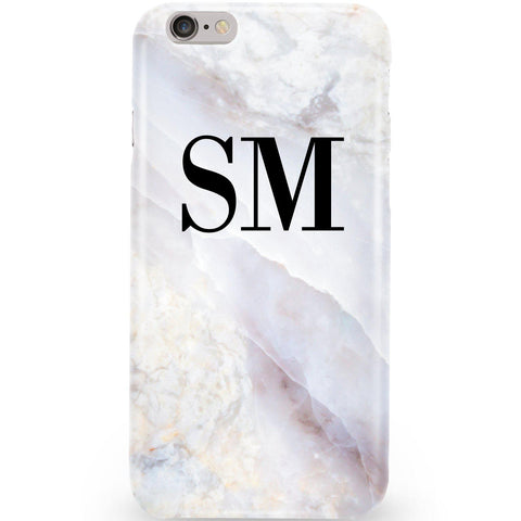 Personalised Stone Marble Initials Phone Case