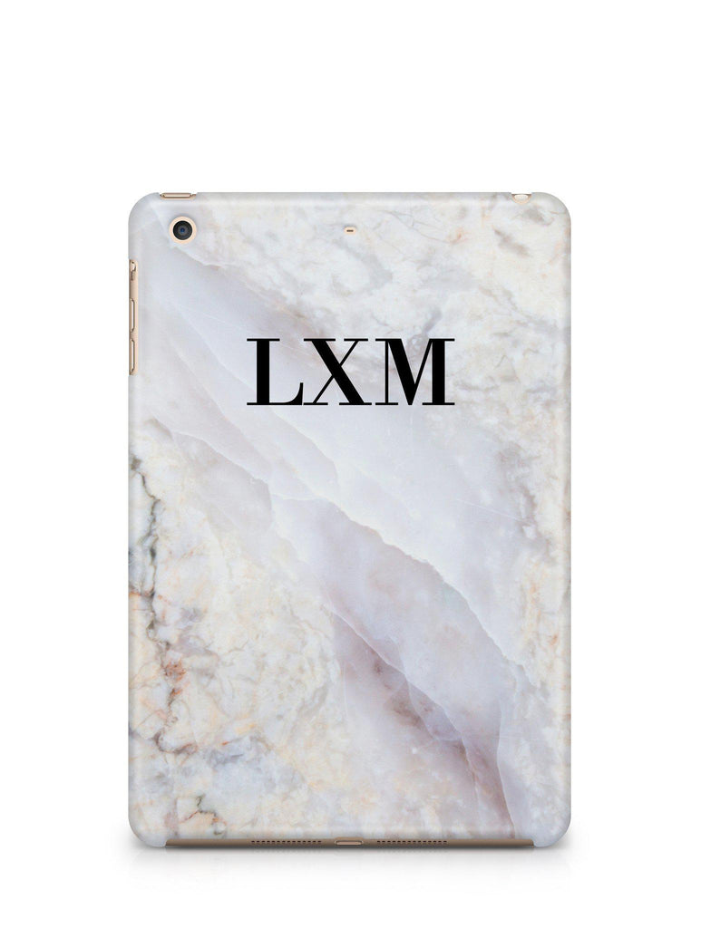 Personalised Stone Marble Initials iPad Case