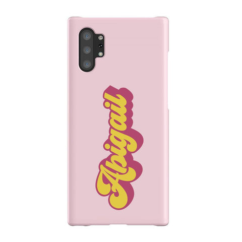 Personalised  Groovy Text  Samsung Galaxy Note 10+ Case