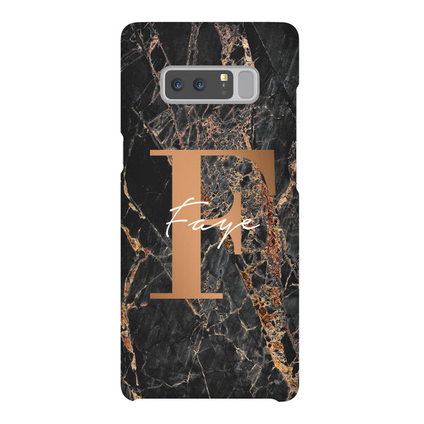 Personalised Slate Marble Bronze Initial Samsung Galaxy Note 8 Case