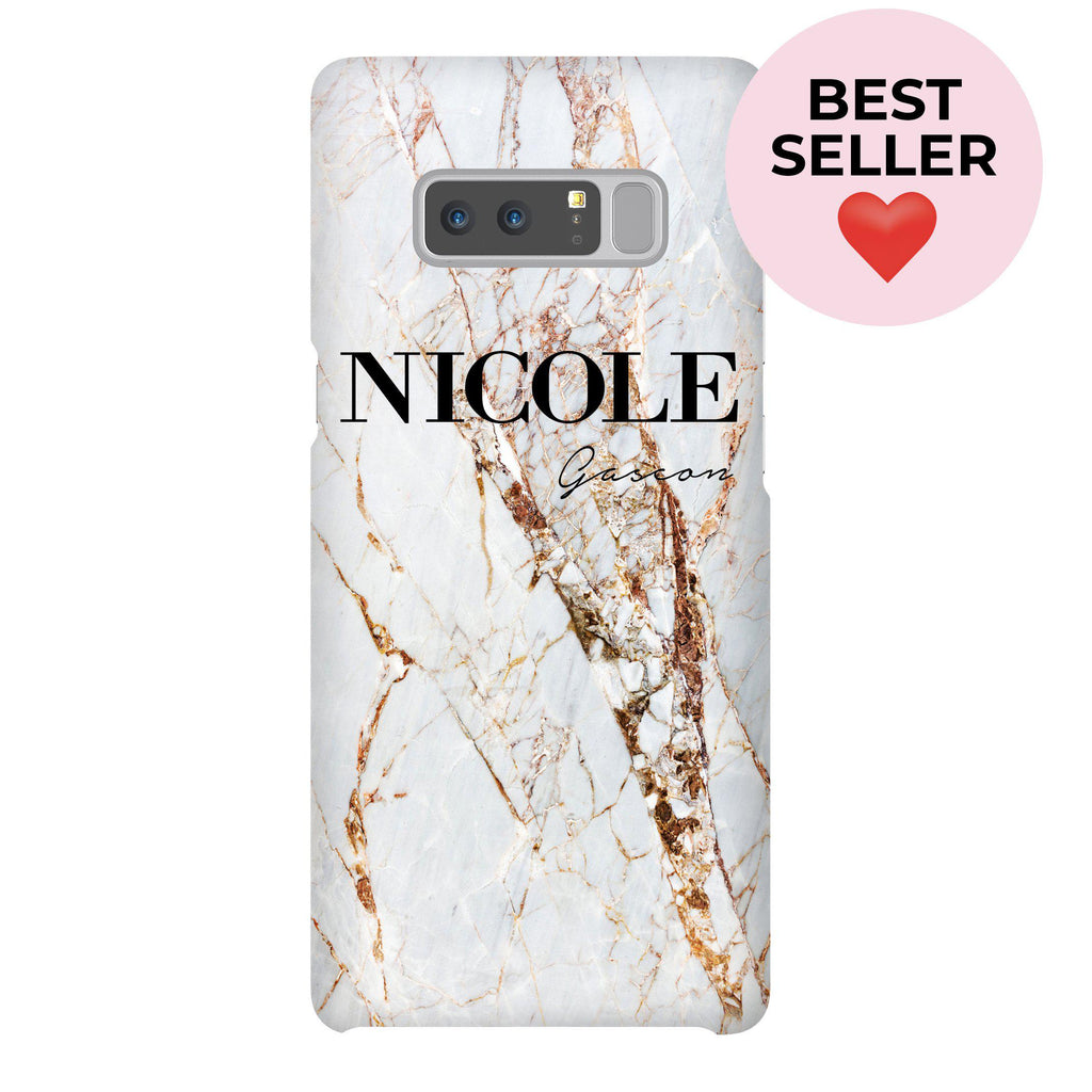 Personalised Cracked Marble Name Samsung Galaxy Note 8 Case