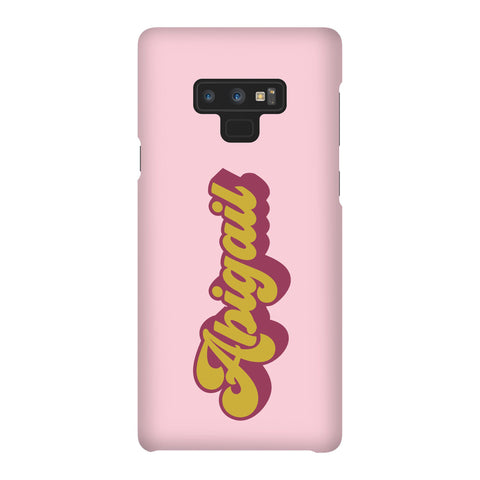 Personalised  Groovy Text Samsung Galaxy Note 9 Case