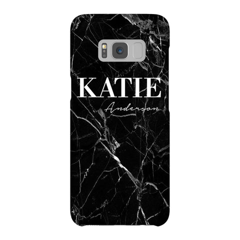 Personalised Black Marble Name Samsung Galaxy S8 Case