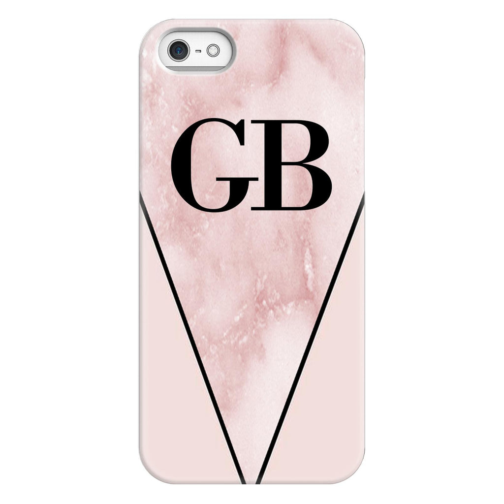 Personalised Pink x Rosa Marble Contrast iPhone 5/5s/SE (2016) Case