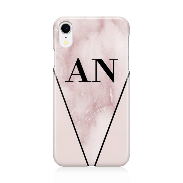 Personalised Pink x Rosa Marble Contrast iPhone XR Case
