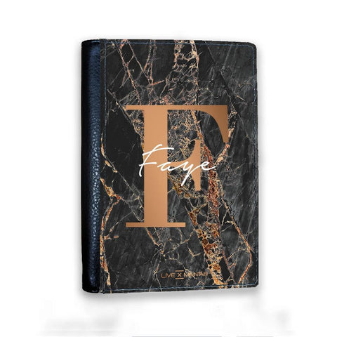 Personalised Slate Marble Bronze Initial Passport Cover
