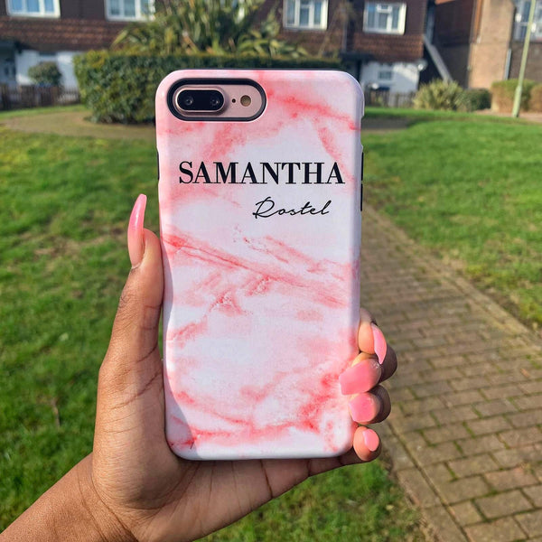 Personalised Cotton Candy Marble Name Samsung Galaxy S9 Plus Case