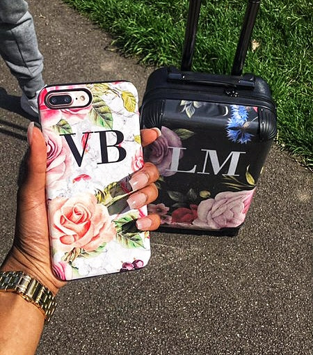 Personalised Watercolor Floral Initials Phone Case