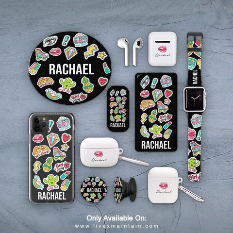 Personalised Sticker Name Phone Case Accessories Package