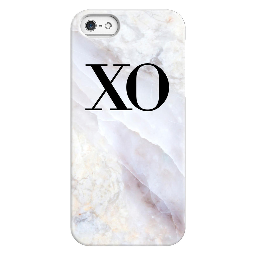 Personalised Stone Marble Initials iPhone 5/5s/SE (2016) Case