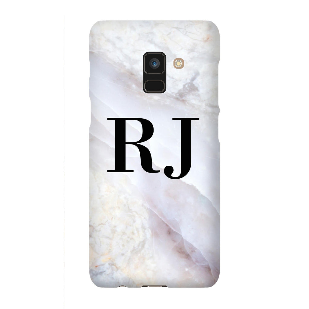 Personalised Stone Marble Initials Samsung Galaxy A8 Case