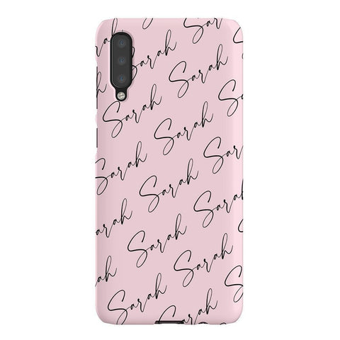 Personalised Script Name All Over Samsung Galaxy A50 Case