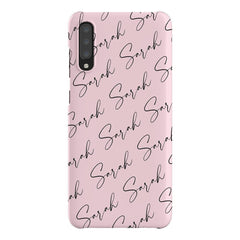 Personalised Script Name All Over Samsung Galaxy A70 Case