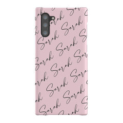 Personalised Script Name All Over Samsung Galaxy Note 10 Case