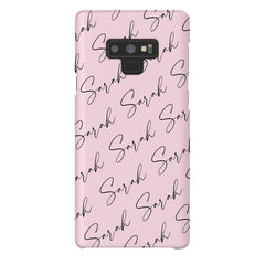 Personalised Script Name All Over Samsung Galaxy Note 9 Case