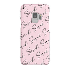 Personalised Script Name All Over Samsung Galaxy S9 Case