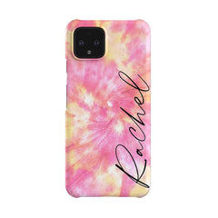Personalised Tie Dye Name Google Pixel 4 Case