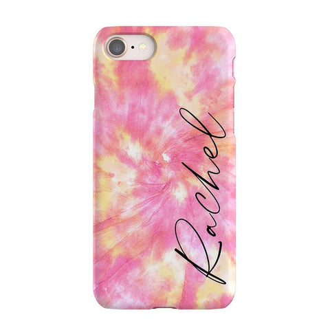 Personalised Tie Dye Name iPhone SE Case