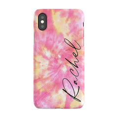 Personalised Tie Dye Name iPhone XS Case