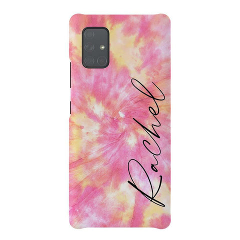 Personalised Tie Dye Name Samsung Galaxy A51 5G Case