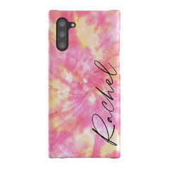 Personalised Tie Dye Name Samsung Galaxy Note 10 Case