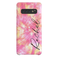 Personalised Tie Dye Name Samsung Galaxy S10 Case