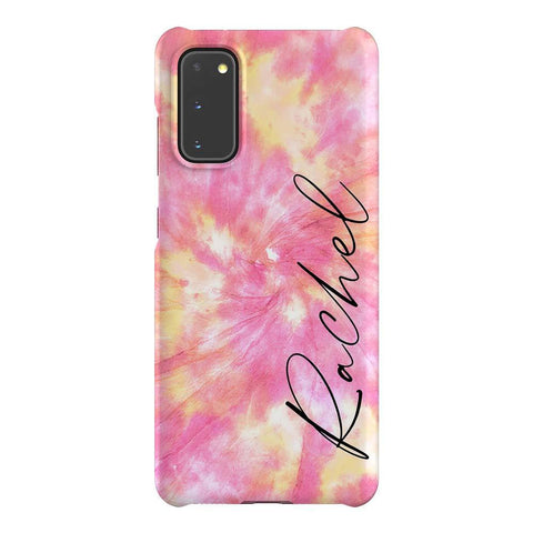 Personalised Tie Dye Name Samsung Galaxy S20 Case