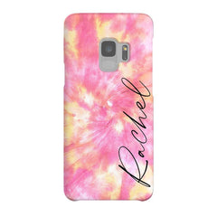 Personalised Tie Dye Name Samsung Galaxy S9 Case
