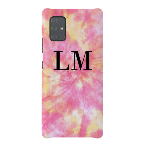 Personalised Tie Dye Initials Samsung Galaxy A51 5G Case