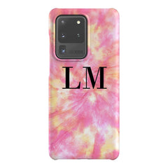Personalised Tie Dye Initials Samsung Galaxy S20 Ultra Case