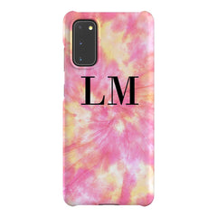Personalised Tie Dye Initials Samsung Galaxy S20 Case