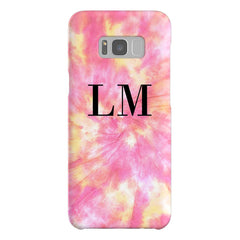 Personalised Tie Dye Initials Samsung Galaxy S8 Case