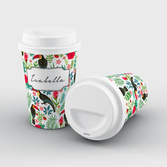 Personalised Toucans Name Reusable Coffee Cup