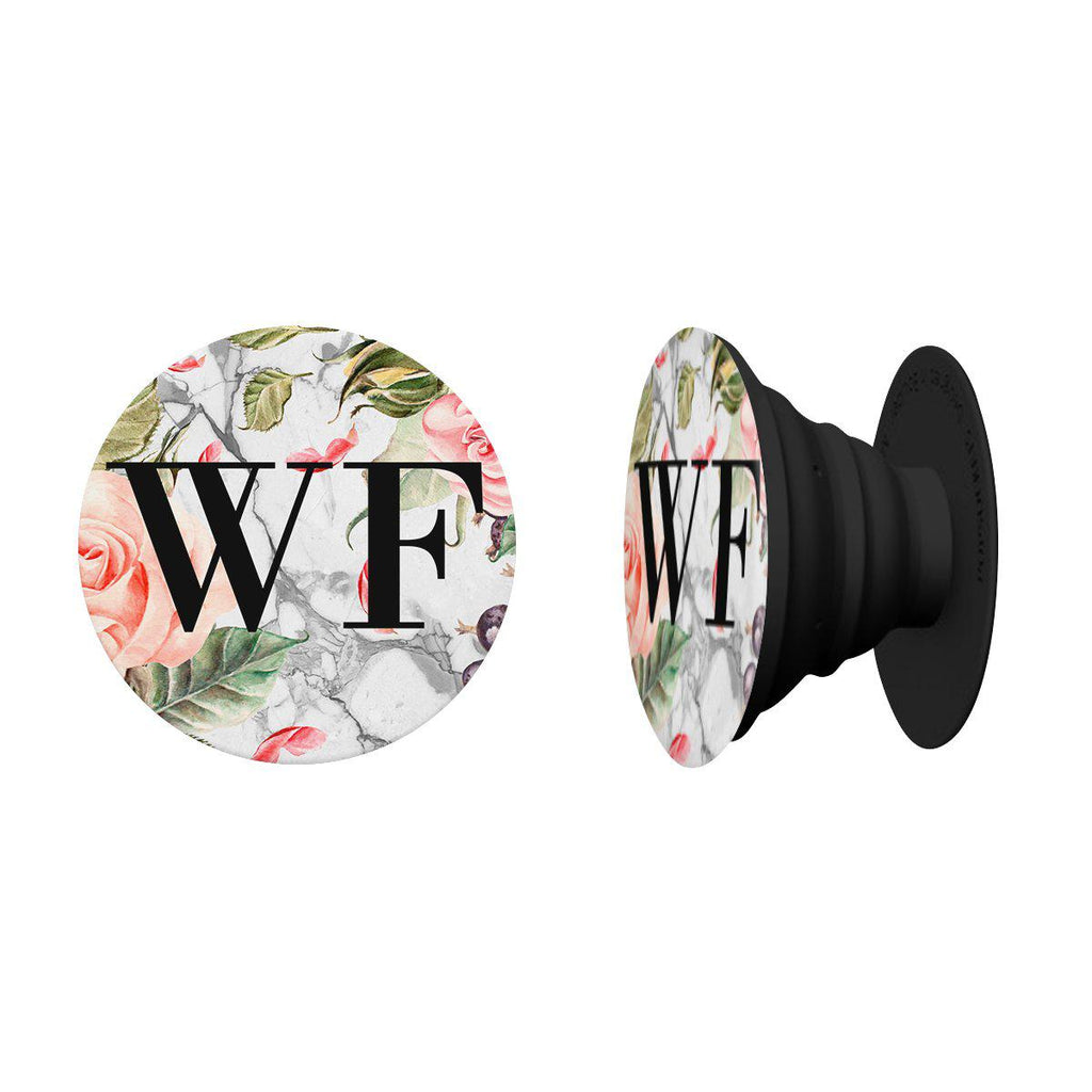 Personalised Watercolor Floral Initials PopSocket