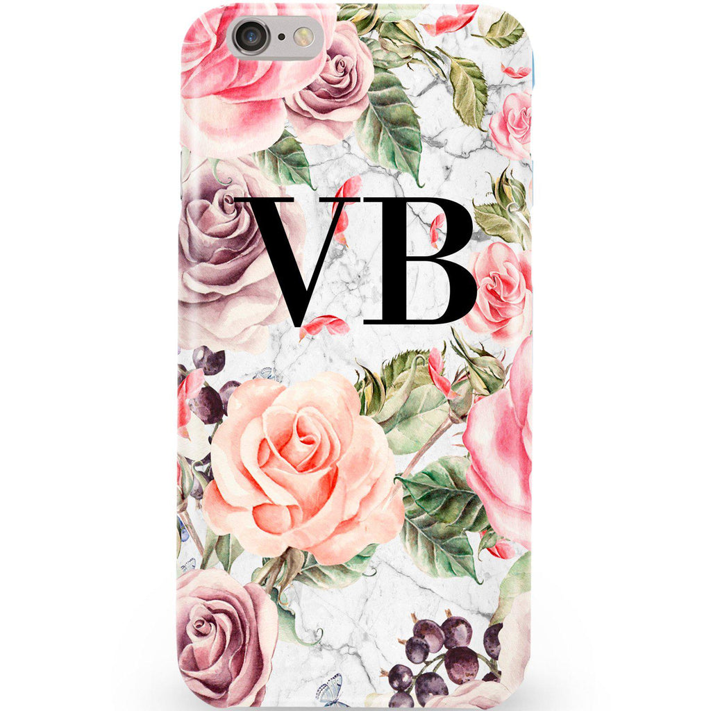 Personalised Watercolor Floral Initials iPhone 6/6s Case