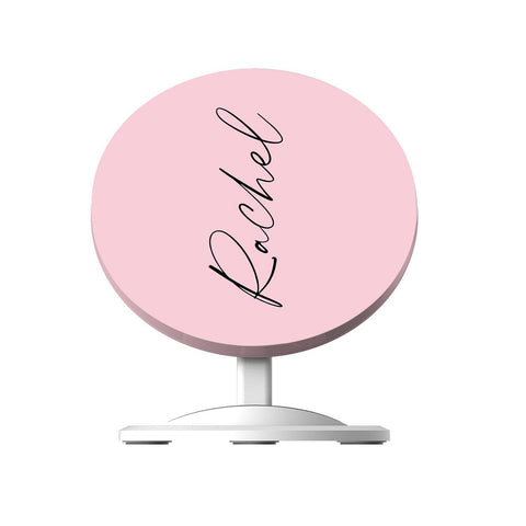 Personalised Bloom Script Name Wireless Charger