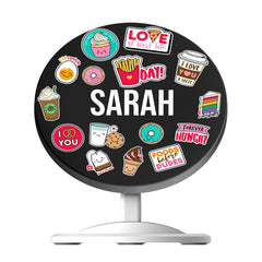 Personalised Foodie Sticker Wireless Charger