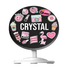 Personalised Pink Sticker Wireless Charger
