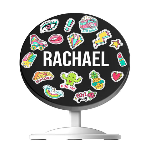 Personalised Sticker Name Wireless Charger