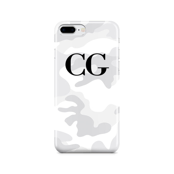 Personalised White Camouflage initials iPhone 7 Plus Case
