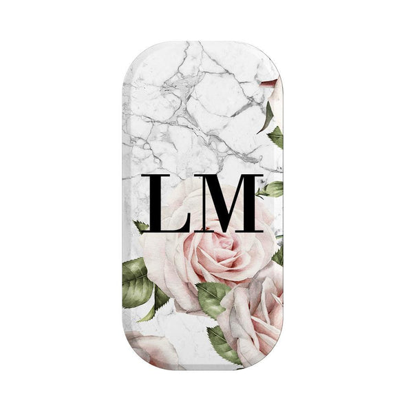 Personalised White Floral Marble Initials Clickit