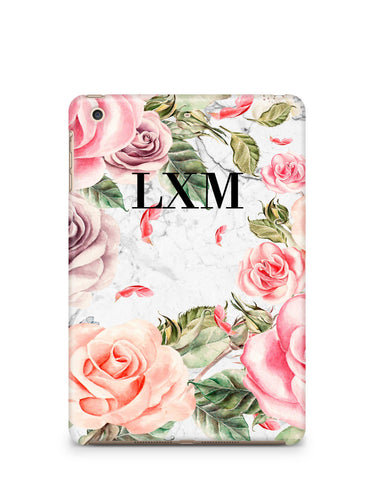 Personalised Watercolor Floral Initials iPad Case