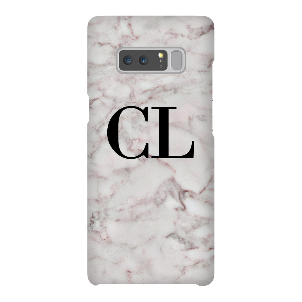 Personalised White Napoli Marble Initials Samsung Galaxy Note 8 Case